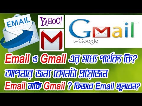 Difference between Email and Gmail in Bangla, Email vs Gmail এর মধ্যে পার্থক্য কি?