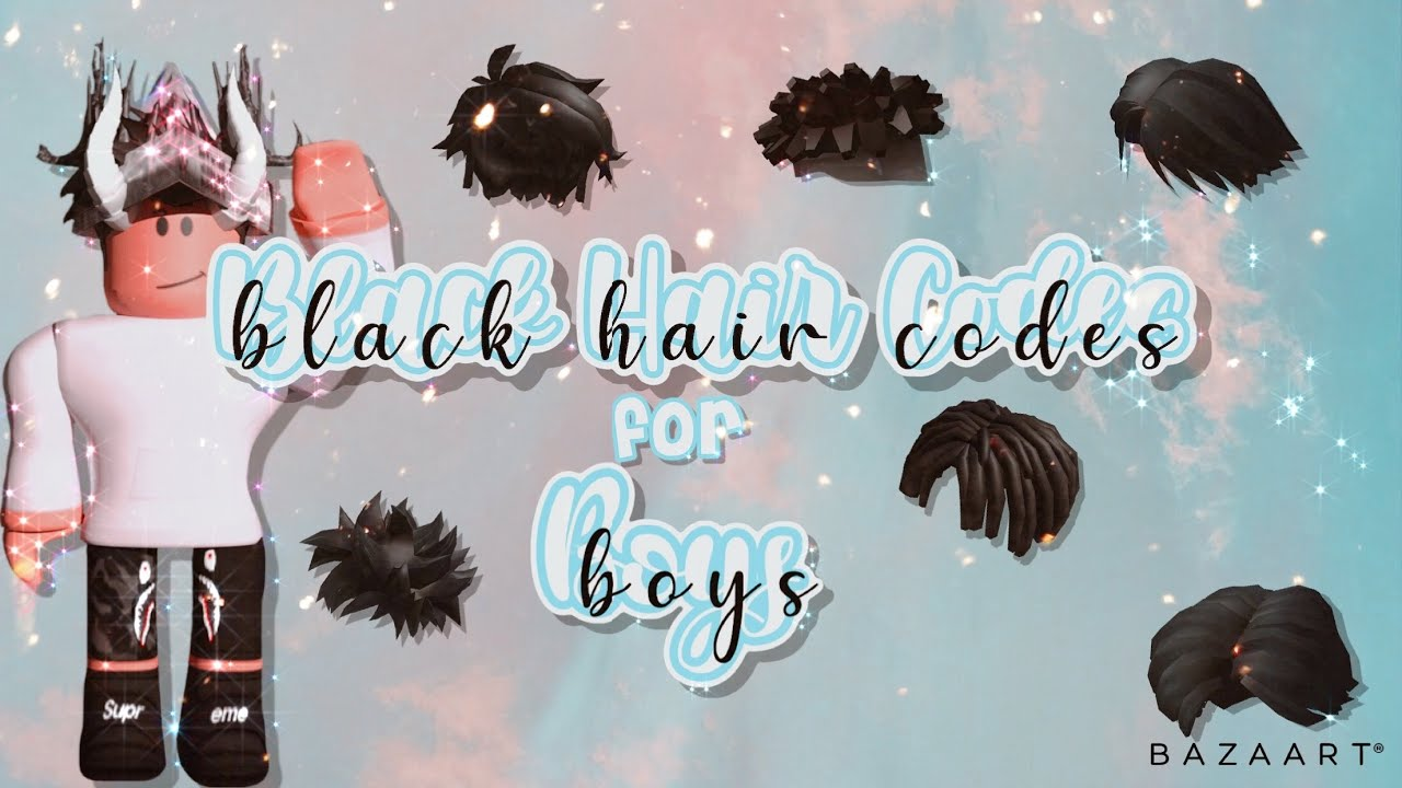 10 Black Roblox Hairs W Codes Youtube