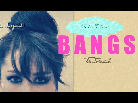 HAIR TUTORIAL: HOW TO FAKE BANGS WITH BUN