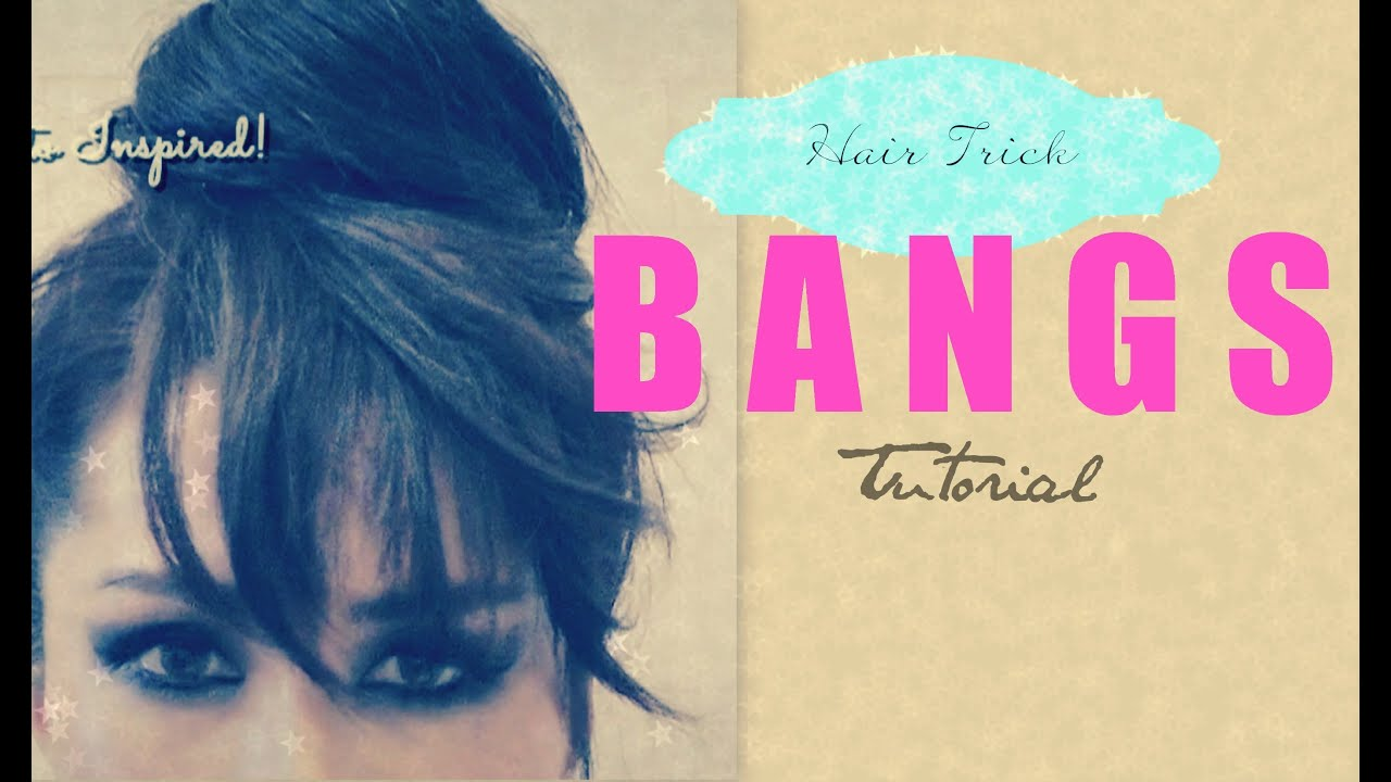 ★HAIR TUTORIAL: HOW TO FAKE BANGS WITH BUN / TOP KNOT