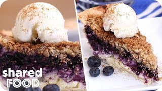 Delicious Blueberry Crumble Cheesecake Pie | Dessert