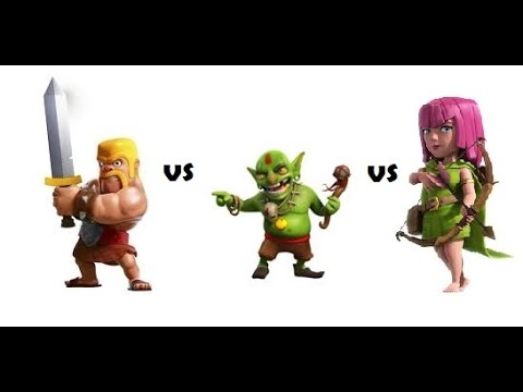 barbarian vs archer vs goblin | Who will win???