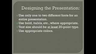 PowerPoint 2010 Tutorial 1 of 6 - The Secret To Great Presentations
