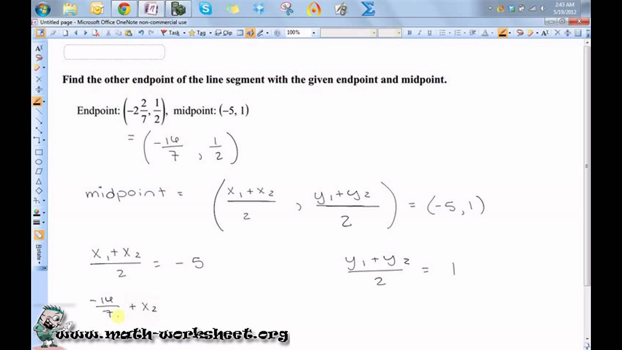 worksheet Midpoint Worksheet geometry parallel lines and the coordinate plane midpoint formula hard math worksheets