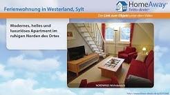 Westerland: Modernes, helles und luxuriöses Apartment im ruhigen Norden des - FeWo-direkt.de Video