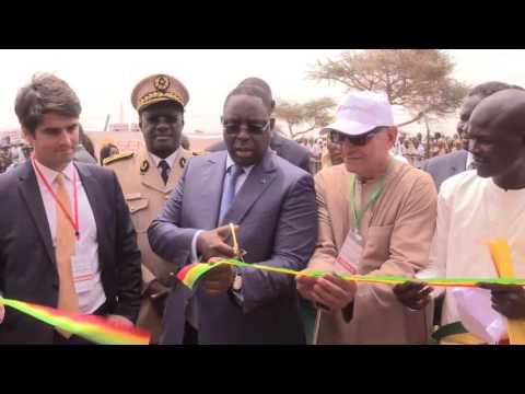 senegal: Macky Sall inaugure la centrale solaire de santhiou mékhé