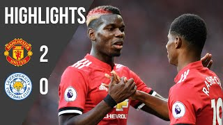 Manchester United 2-0 Leicester (17/18) | Premier League Highlights | Manchester United