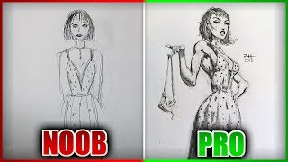 PRO REDRAWS NOOB'S DRAWING - Redraw Drawing Art Challenge