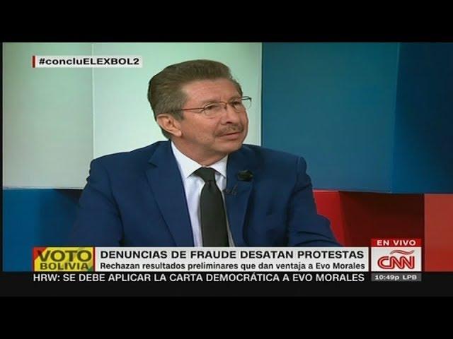 CNN. Carlos Sánchez Berzaín y Fernando del Rincón desnudan fraude electoral en Bolivia