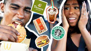 LETTING THE PERSON IN FRONT OF US DECIDE WHAT WE EAT FOR 24 HOURS!!