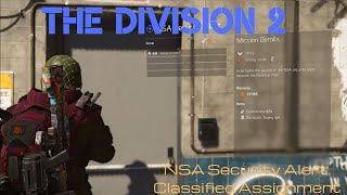 Division 2 - Completing the NSA Security Alert - Classified Assignment