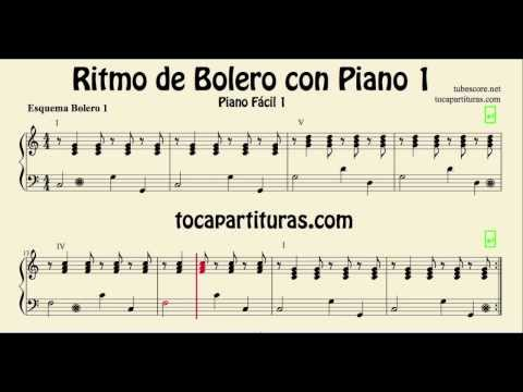Bolero Sheet Music for Easy Piano 1 for rhythm