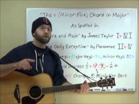 James Taylor And Paramore Use The Minor Five Chord V