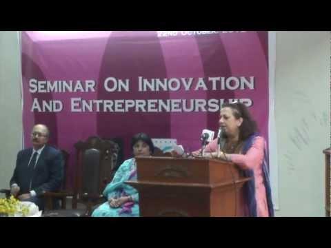 Lahore College for Women University LCWU and SMEDA Entrepreneurship Week 17- 22 Oct 2012 Pakistan