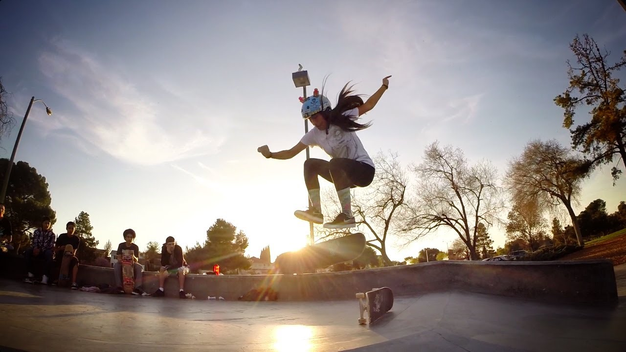 Skateboard Girl Wallpaper Gopro Evelyn Abad Skater Girl March 2014 Hd Youtube