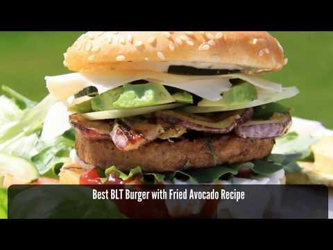 Best BLT Burger with Fried Avocado Recipe – How to Make a BLT Burger with Fried Avocado