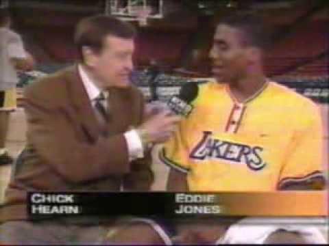 Chick Hearn Interviews Eddie Jones Player of  The Month 1998