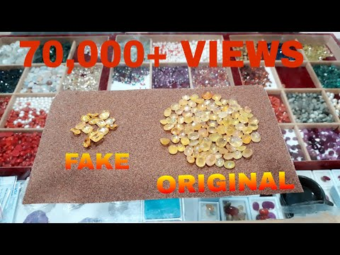 How to test NATURAL PUKHRAJ (yellow sapphire) FAKE PUKHRAJ at home... And answering some questions