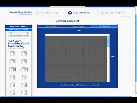 Free Kitchen Design Software- Adding Wall Cabinets - YouTube