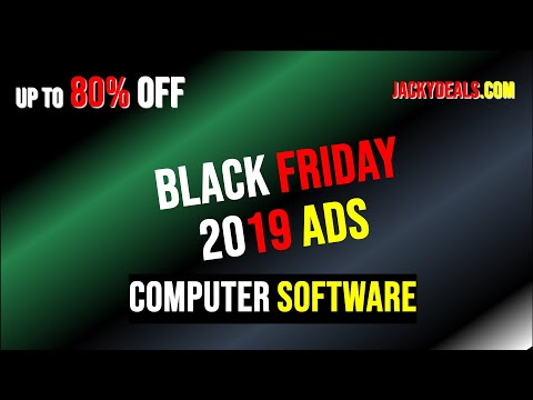 2019 Black Friday Best Computer Software Deals For You