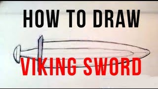 How to Draw a Sword | Viking Sword - Easy Things To Draw