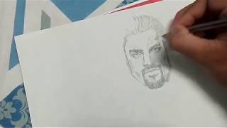 How to draw Wwe Roman Reigns easily! : Step by step tutorial