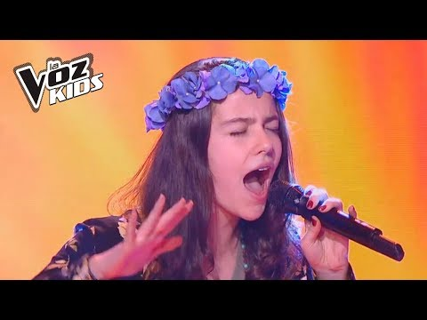 Mariana canta Maldita Primavera - Audiciones a ciegas   La Voz Kids Colombia 2018