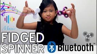 Mainan Anak FIDGED SPINNER dengan Bluetooth Speaker 💖 LED Finger Spinner With Bluetooth Speaker 💖