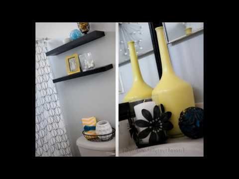 Black and yellow bathroom designs
