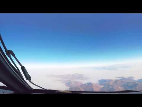 Cockpit timelapse: Baku - Nakhchivan - Azerbaijan Airlines
