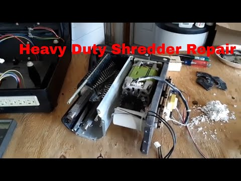 DIY / Fixing Up a Free Heavy Duty Shredder For Shredding Cardboard...