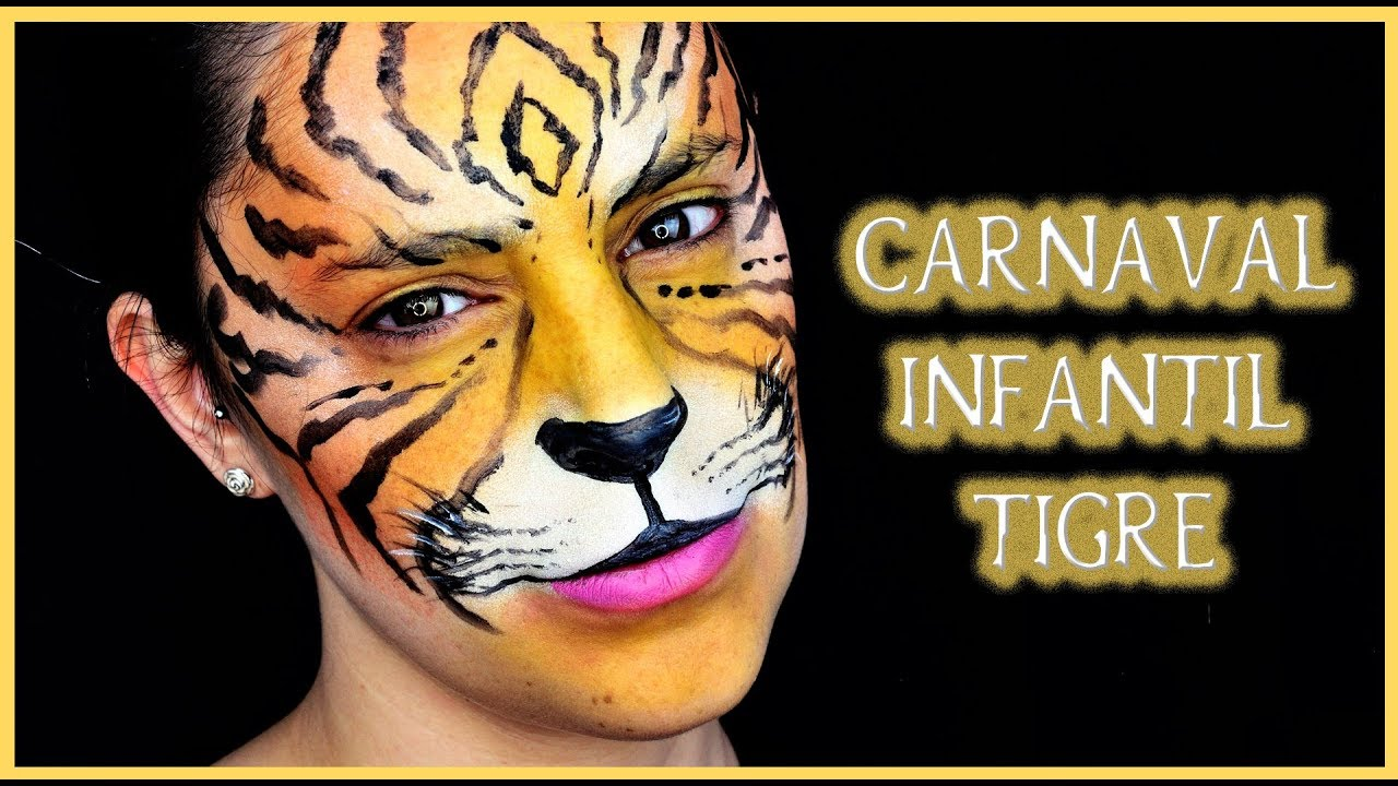Tutorial Maquillaje Carnaval Niño Tigre Silvia Quiros Youtube