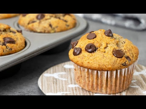 Healthy Oats Banana Muffins | No Refined Sugar or White Flour