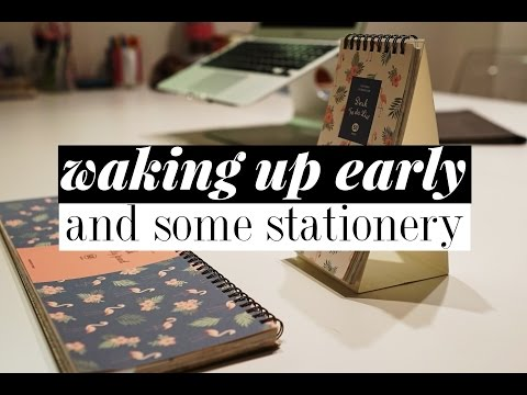 Tips for Waking Up Early + Stationery | 3rd Year of Medical School Vlog | VLOGMAS 6