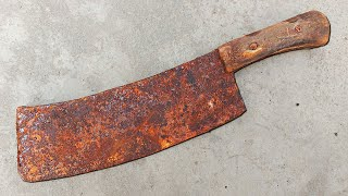 Rusted Meat Cleaver Restoration