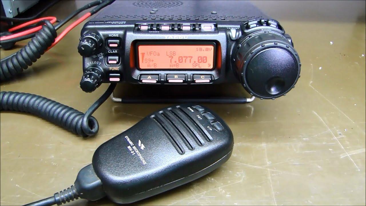 ALPHA TELECOM: YAESU FT-857D PTT NÃO ATIVA A TRANSMISSÃO, SOMENTE VOX