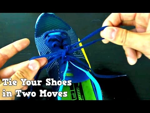 How to tie your shoes fast way two moves youtube how to tie your shoes fast way two moves ccuart Image collections