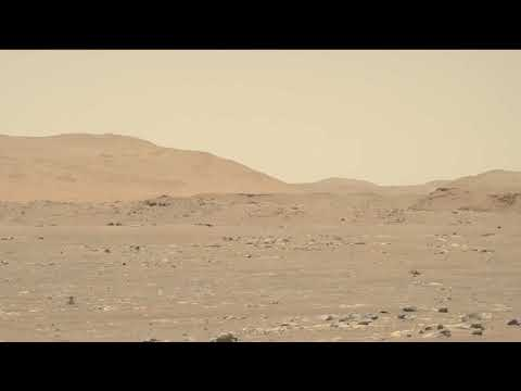 Perseverance Rover's Mastcam-Z Captures Ingenuity's Third Flight