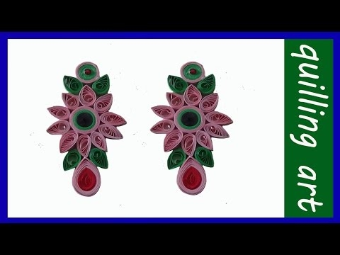 Paper Quilling-earrings- jewellery making...