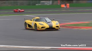 1160 HP Koenigsegg Agera RS ML - LOUD SOUNDS on Spa Francorchamps F1 Track