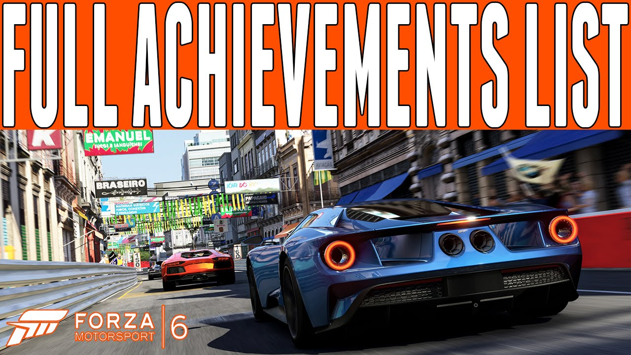 forza motorsport full achievements list achievements in forza motorsport 6 full achievements list 57 achievements in forza 6