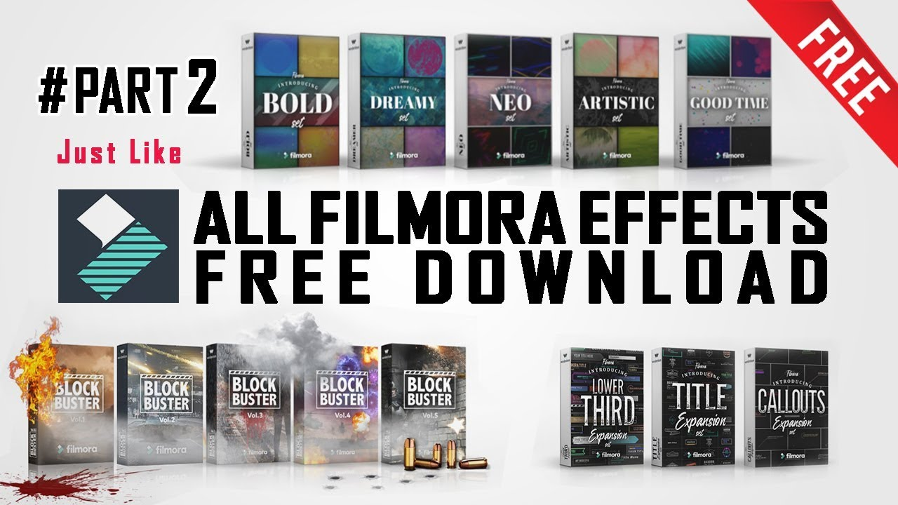 filmora video effects pack download