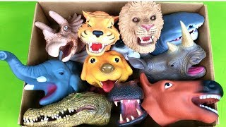 Box of Wild Zoo Animals - Farm Animals Learn Animal Names - Lot of Educational Toys For Kids