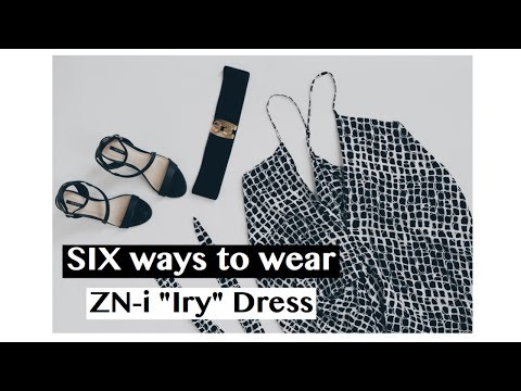 "How to wear a Dress six ways : ZN-i ""Iry"" Dress"