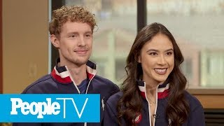 Olympic Ice Dancing Duo Madison Chock And Evan Bates 'Fell In Love' On The Ice | PeopleTV