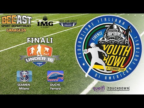 Youth Bowl 2017 FINALE U16 Seamen Milano vs Duchi Ferrara