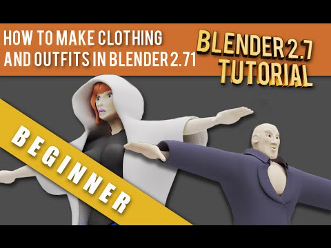 How To Make 3d Clothing and Outfits in Blender 2 71