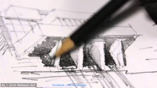 Architecture rough sketch drawing