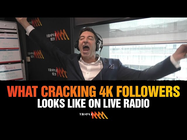 This Is What It Sounds Like. . . When You Crack 4K Followers   Triple M