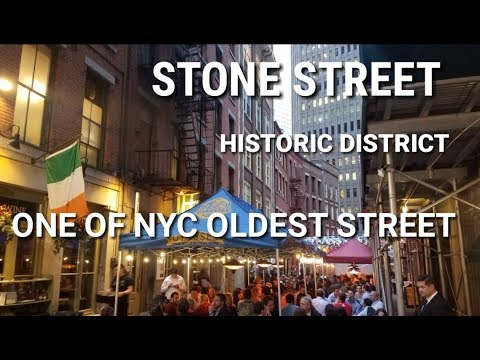 Stone Street Historic District - One of New York oldest streets | Financial District, Manhattan, NYC